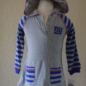 NY Giants girls toddler top with hoodie 2T. NFL